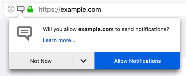 Reducing Notification Permission Prompt Spam in Firefox – Firefox